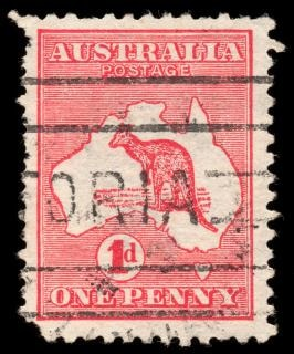 red kangaroo stamp