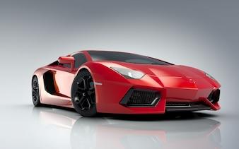Red Lamborghini sports car