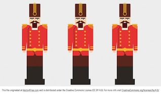 Red nutcracker characters vector