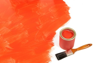 Red paint on the floor
