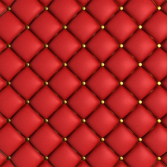 Red quilted texture