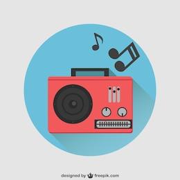 Red radio vector