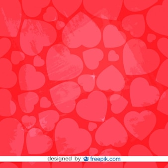 Red Retro Heart Background