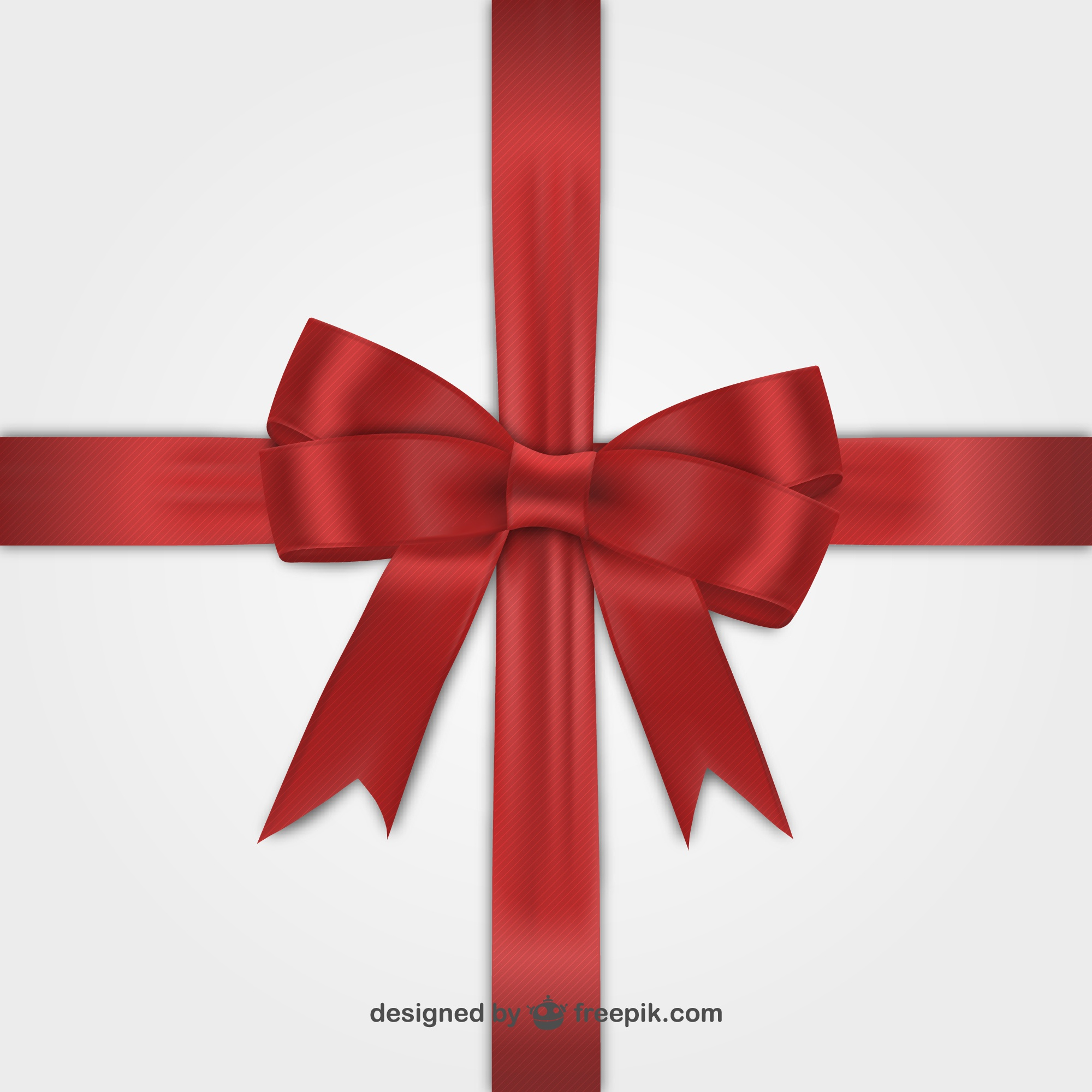 Red ribbon for Black Friday