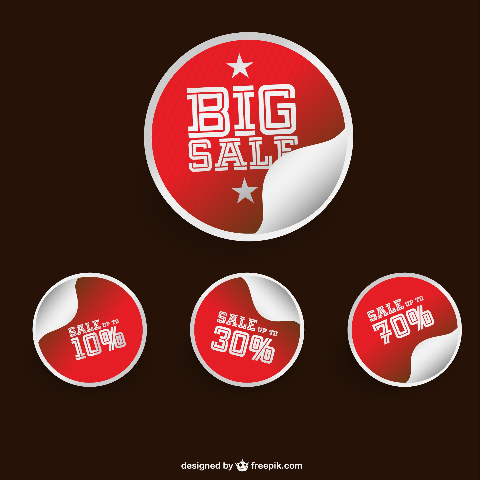 Red sale stickers