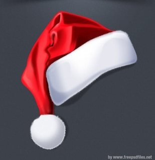 Red Santa hat graphic