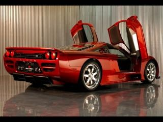 Red sports car, sport