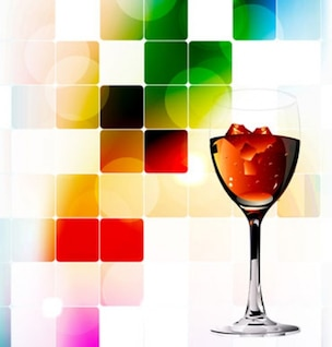 Red Wine Abstract Splashing Background