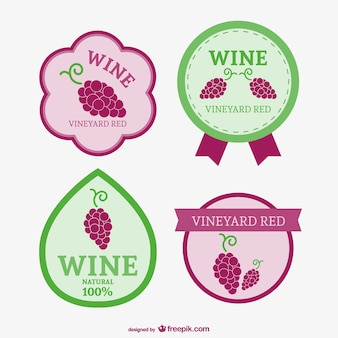 Red wine badges collection