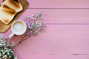Regular breakfast with copy space