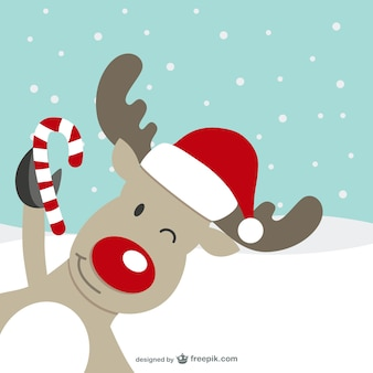 Reindeer cartoon character