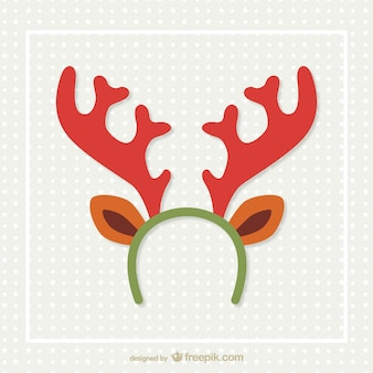 Reindeer horns vector