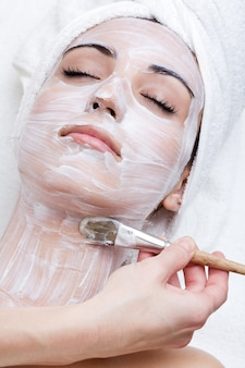 Relax beautiful spa cream treatment