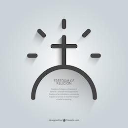 Religious message of faith template