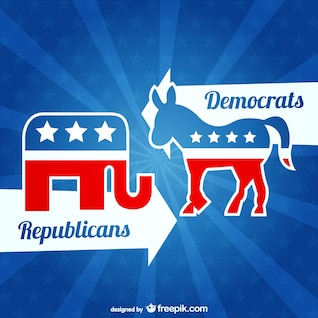 Republicans and Democrats vector