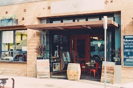 Restaurant entrance door