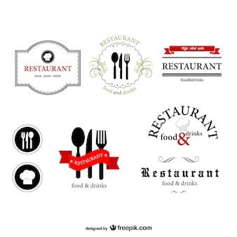 Restaurant logos set