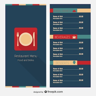 Restaurant menu free layout design