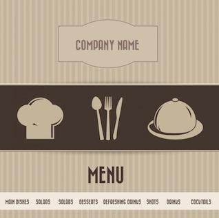 Restaurant Menu Simple Brown Card