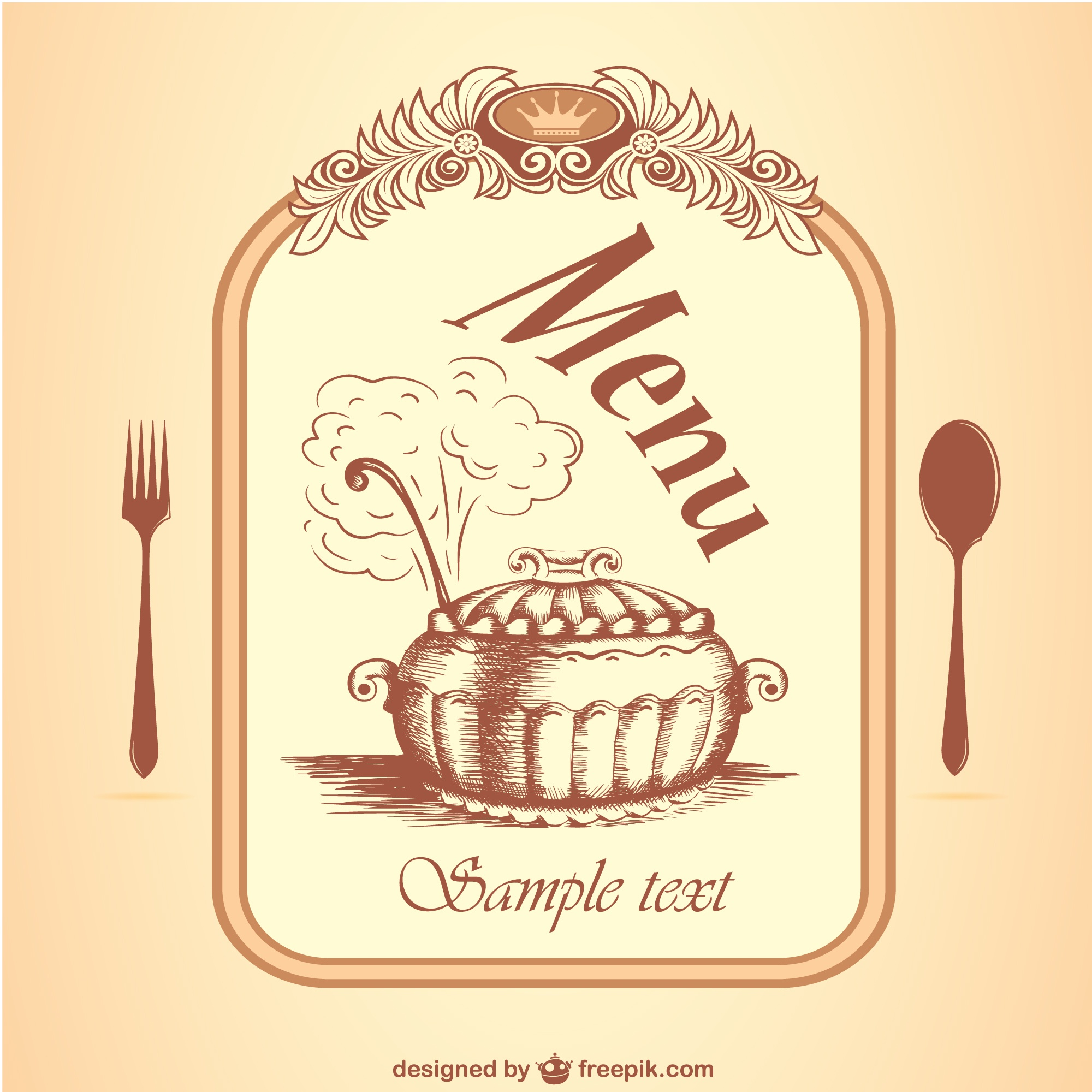 Restaurant menu vector free