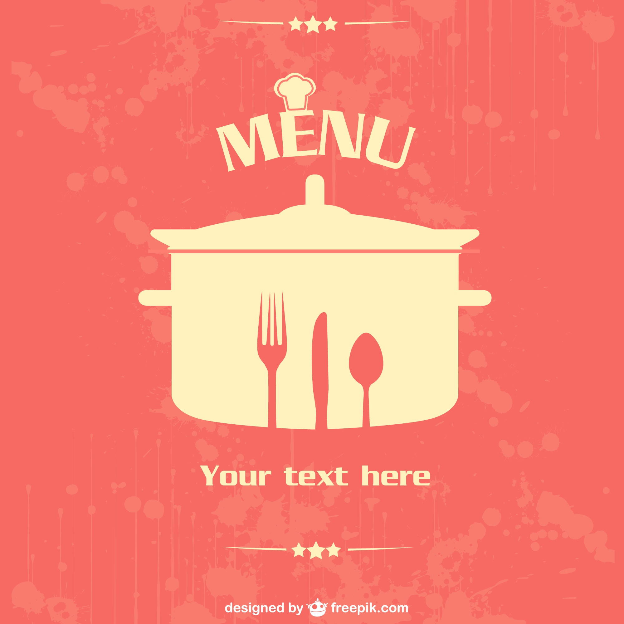 Restaurant vector poster design