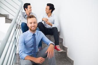 Resting company employee beard businessman