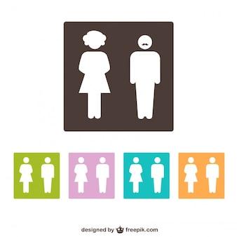 Restroom gender symbols