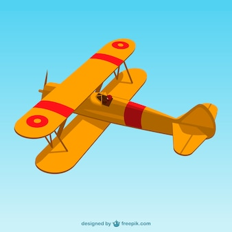 Retro airplane vector art