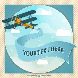 Retro airplane vector design