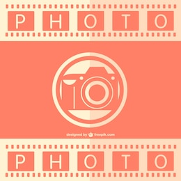 Retro analog photography vector template