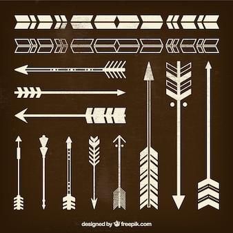 Retro arrows collection