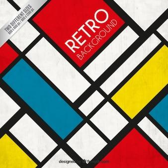 Retro background in Mondrian style