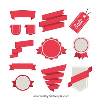Retro badges and ribbons