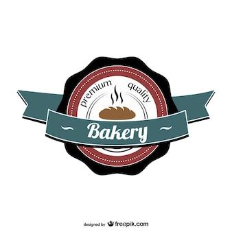 Retro bakery vector logo
