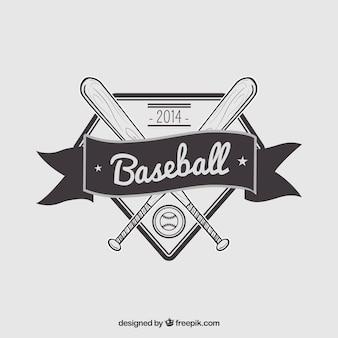 Retro baseball badge