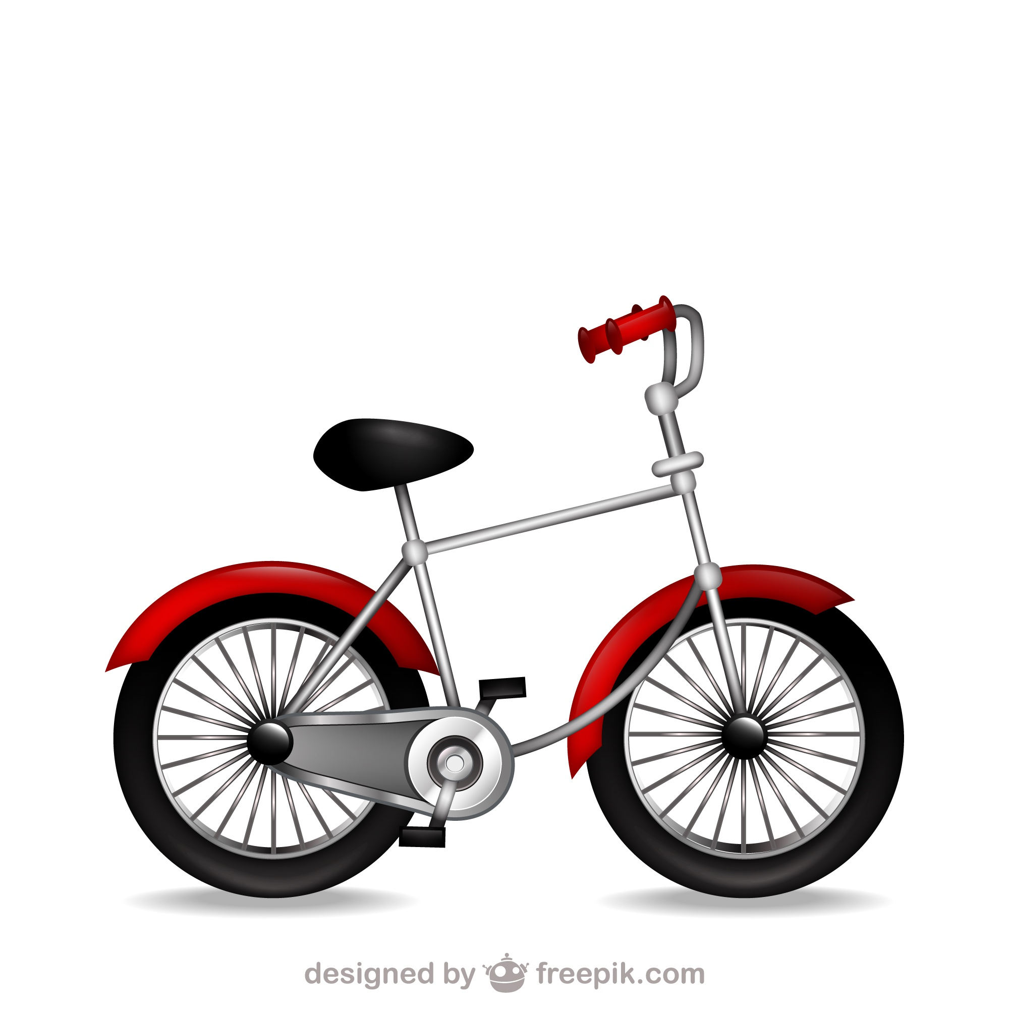 Retro Bicycle clip art vector file