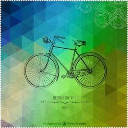 Retro bicycle triangle design