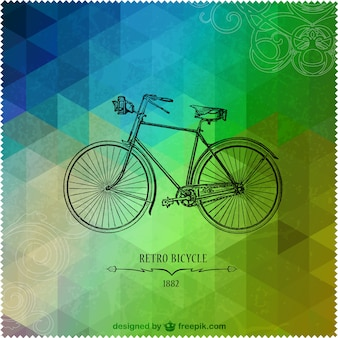 Retro bicycle triangle design