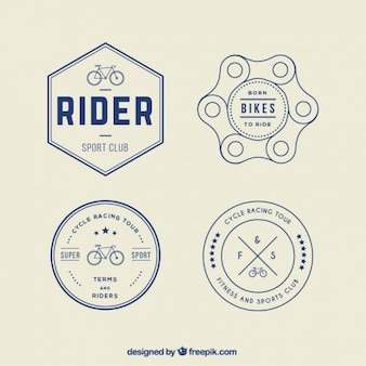 Retro bike logos