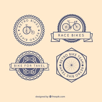 Retro bikes badges