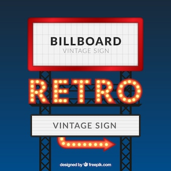retro billboard template