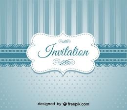 Retro Blue Elegant Invitation Design