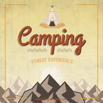 Retro camping background