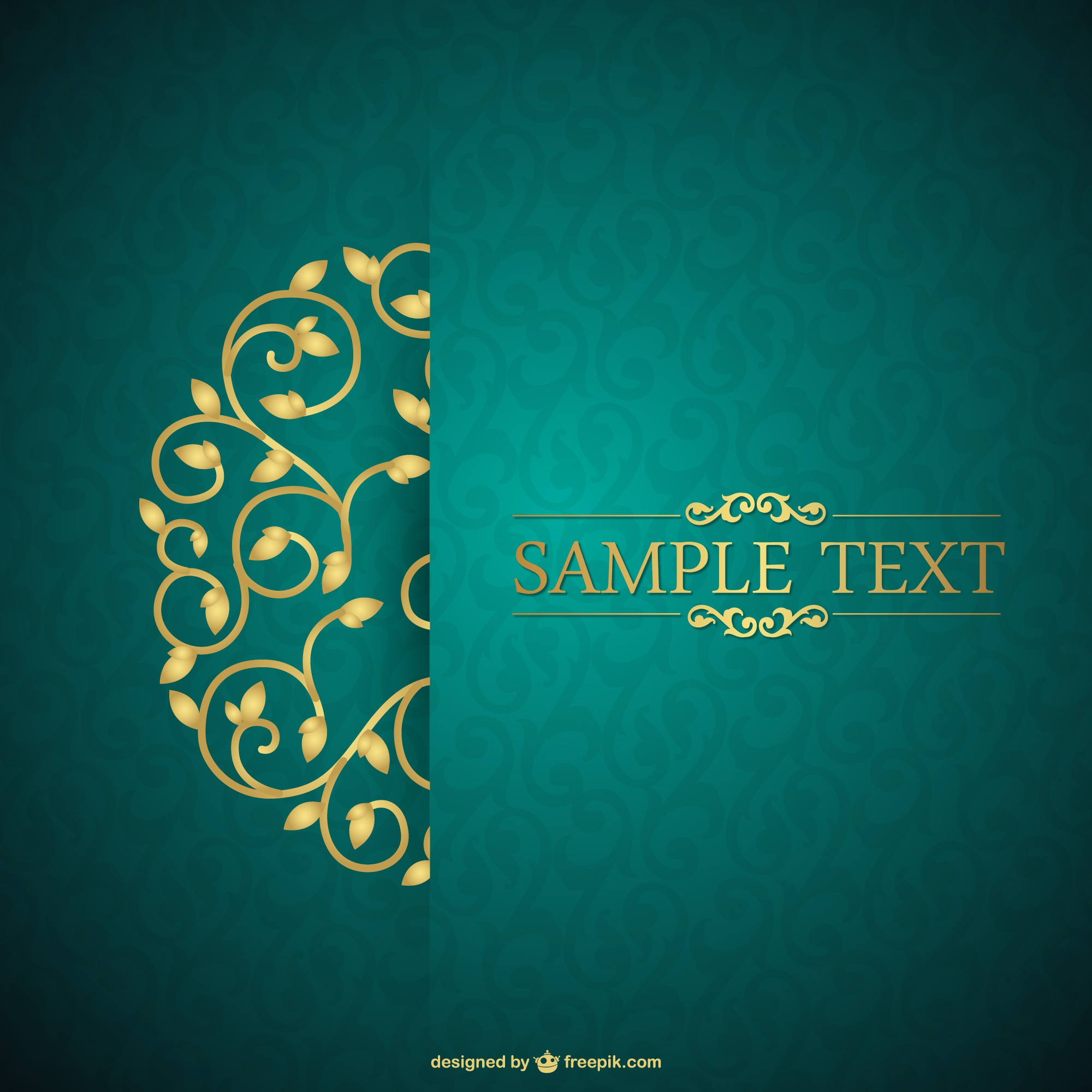 Retro card floral template free for download