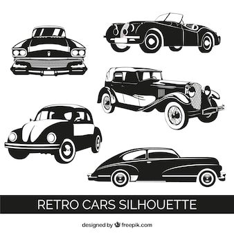 Retro cars quality vectors