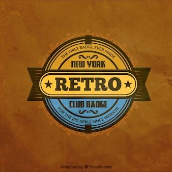 Retro club badge