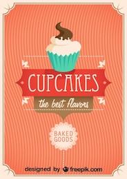 Retro Cupcakes Poster Design