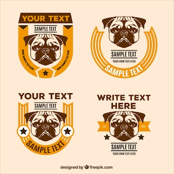Retro dog badges