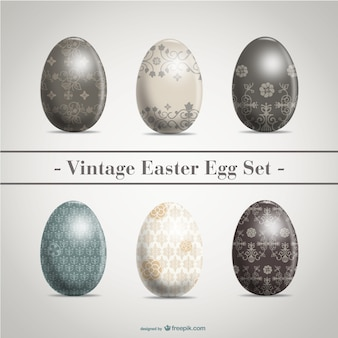 Retro Easter eggs pack
