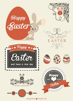 Retro Easter graphics